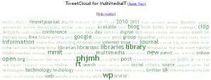 TweetCloud for MultiMediaIT