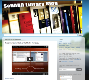 ScHARR Library- Recommended Website of the Month - Mendeley